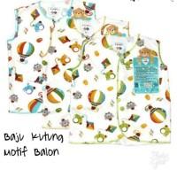 LIBBY Baju Kutung Kancing Depan Bayi Newborn Motif Balon