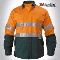 Baju Wearpack Kerja Safety Lapangan Proyek Tambang K3 Reflective 3M