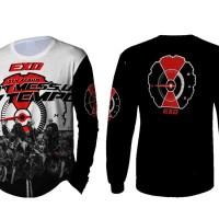 T-Shirt Kaos Lengan Panjang Pria Band Musik EXO 3D FullPrint Art 3