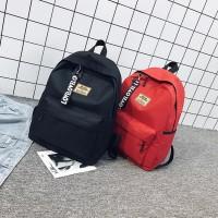 backpack/ransel cewe cowo tas pria /tas wanita/tas wanita/tas sekolah - Hitam