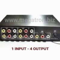 Audio Video (RCA) Distributor/splitter 1 input - 4 output
