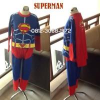 Baju Kostum Anak Karakter Superhero SUPERMAN 2-5 Tahun