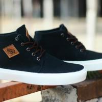 sepatu sneakers pria vans skate mid hitam made in veitnam