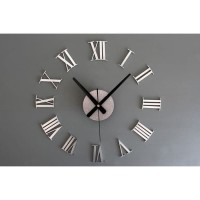 DIY Giant Wall Clock 30-60cm Diameter - ELET00662 / Jam Dinding - Si
