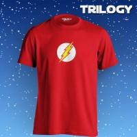 Kaos Premium Brand TRILOGY Comic The Flash New Logo Tshirt