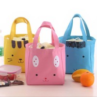 Grosir tas kanvas hewan lucu / cute animal cotton canvas lunch bag BTA