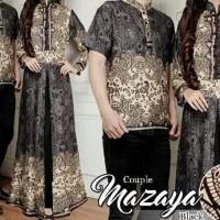New Produk Baju Gamis Couple Muslim Lebaran 17266 Kapelan Batik
