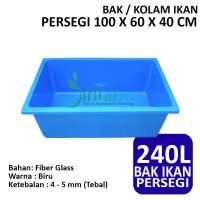 Bak / Kolam Ikan Persegi 100 X 60 X 40 CM Fiber Tebal Berkualitas