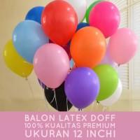 Balon Latex Doff 12 inchi - 100 pcs - Kualitas premium