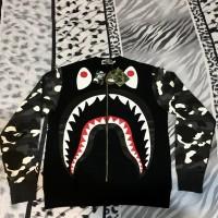 BAPE SHARK Camo Sweater Glow in The Dark