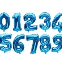 Balon Foil Angka Biru 80cm