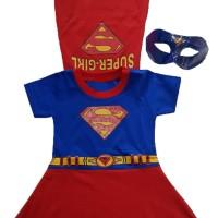 Baju Kostum Anak Perempuan Topeng Superhero Supergirl