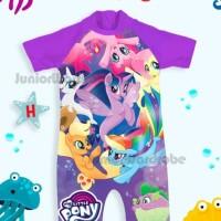 Baju Renang Bayi / Swimsuit Jumsuit Bayi Perempuan Kuda Poni Ungu