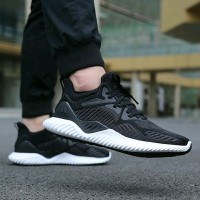Adidas Alphabounce Beyond Black White Premium Original Sneakers