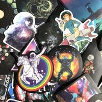 Stiker 400 - 100 Sticker Space Astronout Antariksa NASA rimowa koper