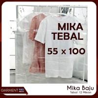 Mika Baju Dewasa 55x100 Cover Plastik Pelindung Pakaian PLASTIK TEBAL