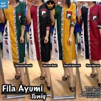 Baju Atasan Wanita Muslim Blouse Fila Ayumi Tunik Lava 1
