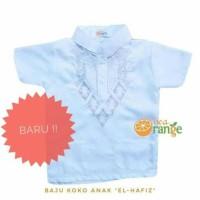 Dijual Baju Koko Anak Balita Lengan Pendek Bordir Putih (1- 7 Tahun)