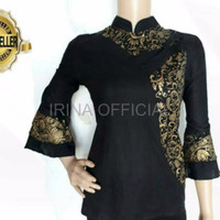 DRESS BATIK BERKUALITAS BATIK WANITA Blouse Blus Batik Mix Songket Pr