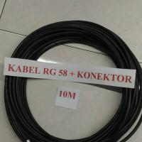 Kabel antena rig dan ht rg58 10 meter plus konector