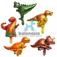Balonasia 5pcs Balon Foil Dekorasi Mini Dinosaurus Set