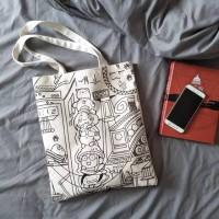 Baru Restock Tote Bag Kanvas Pria / Wanita Trendy Camera BESAR
