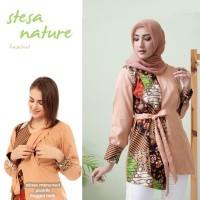 Baju Menyusui Stesa Coklat Blouse Kerja Batik Pakaian Busui Ibu Hamil