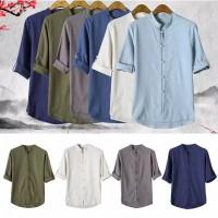 Baju Cheongsam Imlek Pria Ip Man Wing Chun Traditional Chinese Shirt