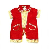 baju cheongsam jumper romper imlek anak bayi laki 6 7 8 9 10 11 bulan