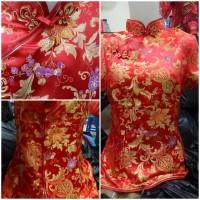 IMLEK SALE Cheongsam Blouse Wanita Motif Baru Khusus Merah