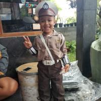 Kostum polisi cilik / pocil / baju polisi anak