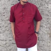 Baju gamis pria gamis pakistani lengan pendek