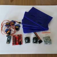 Kit Robot MeArm for Arduino, Rangka Robot Lengan, Baut Set, Servo, Arm