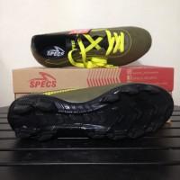 sepatu olahraga Sepatu Bola Specs Quark FG Olive Zest Green 100828