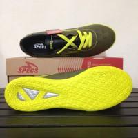 sepatu olahraga Sepatu Futsal Specs Quark IN Olive Zest Green 400778