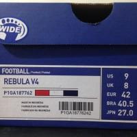 sepatu olahraga Sepatu Bola Mizuno Rebula V4 High Red White Blue