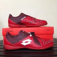 sepatu olahraga Sepatu Futsal Lotto Squadra IN Dark Red White