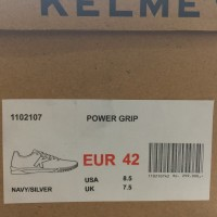 sepatu olahraga Sepatu Futsal Kelme Original Power Grip Navy Silver