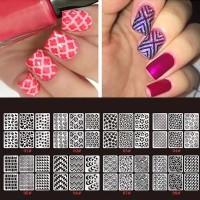 Nail Stencil Hologram/stensil kuku nail art 1 lembar isi 9 pcs