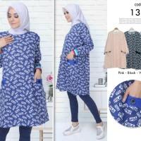 Baju tunik wanita / baju tunik motif fila / baju tuniik muslim atasan