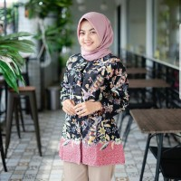 Blouse batik/Baju Batik Wanita/Blus Batik/Baju Kantor BL - 845