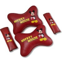 TECHNOZIO 2 in 1 Belt Mobil dan Bantal Kepala Mickey Mouse