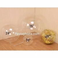 Balon PVC Transparan Size 10 ( 25 cm ) / Transparent Bubble Balloon