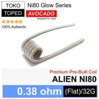 Authentic Avocado ALIEN NI80 Coil 0.38 ohm | Glow Series rda rdta rta
