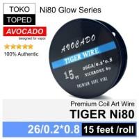 Authentic Avocado TIGER Ni80 wire | mod rda rta rdta vapor nichrome 80