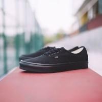 Sepatu Sekolah Vans Authentic Classic Full Black Original BNIB!