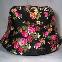 Paling Murah Bucket Hat Motif Bunga / Topi Baket Floral/ Topi Bundar /