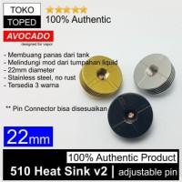 Authentic Avocado 510 Heat Sink v2 22mm Stainless Steel | 22 rda rdta