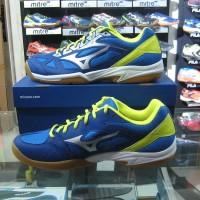 Sepatu Voli Volley Volli Volly Mizuno Cyclone Speed 2 SU Blue Biru Ori