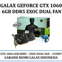 VGA GALAX nVidia Geforce GTX 1060 EXOC (EXTREME OVERCLOCK) 6GB DDR5